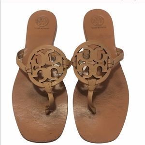 Beige Tory Burch Miller sandals